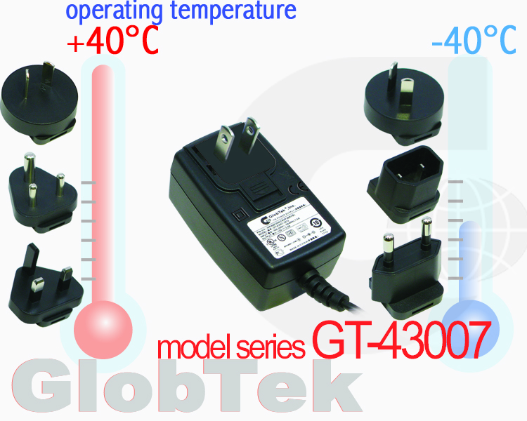 Continuing to pursue its commitment to quality products and service, GlobTek, a world-class provider of power supplies and power electronic solutions, announces that it's Wall plug in power supply AC...